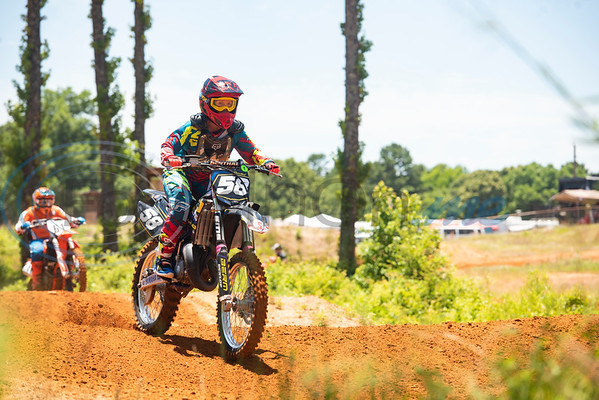 A motocross enters the track from the start gate for an  organized practice event at Swan MX Raceway Park in Tyler held on Friday, June 12, 2020. Race days for the 2020 Texas Lone Star State Championship MX Series are Saturday and Sunday with the series finals Oct. 3-4.
