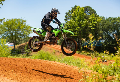 A motocross rider catches air during an organized practice event at Swan MX Raceway Park in Tyler held on Friday, June 12, 2020. Race days for the 2020 Texas Lone Star State Championship MX Series are Saturday and Sunday with the series finals Oct. 3-4.
