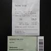 Inkom ticket Intermot 14,00 Euro (Parking ticket 9,00 Euro).
