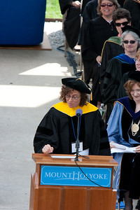 Clare Waterman gave a short address about her accomplishments in the sciences.