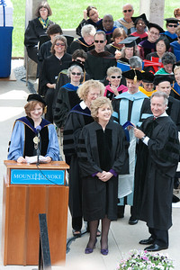 President of Ireland Mary McAleese receives the honorary Doctor of Law degree.