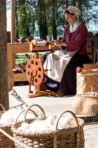 Textile Demonstration at Mount Vernon's Pioneer Farm