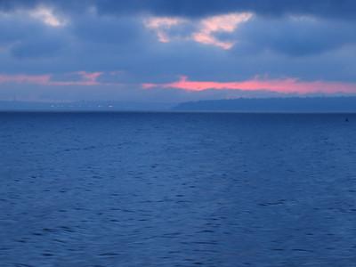 Looking towards Seattle from the Bainbridge ferry.