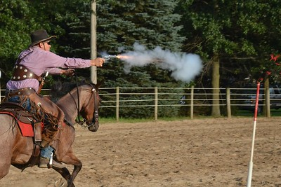 Mounted Cowboy Shooting~White County 4-H Fair~2015