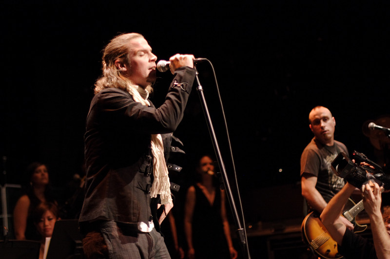 Dublin rock band Mr. North celebrated the release of their record _Fear & Desire_ with a concert with the Greenwich Village Orchestra at New York City's Florence Gould Hall on April 5, 2007.  Photo by Shams Tarek (www.shamstarek.com).