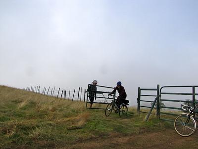 A foggy ride up Mt. Hamilton