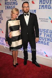 Krisin Chenoweth with Dana Brunetti (Fifty Shades of Grey producer) photo by Rob Rich/SocietyAllure.com © 2014 robwayne1@aol.com 516-676-3939