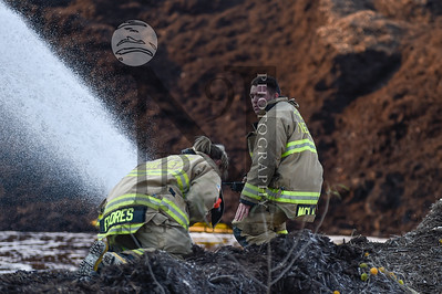 Fire Services from several agencies work to extinguish a mulch fire in SATX on 19 Dec 2016. Bexar County EM, Schertz, Bracken Volunteer, Universal City, and Selma. Gallery: http://smu.gs/2hNpmQc