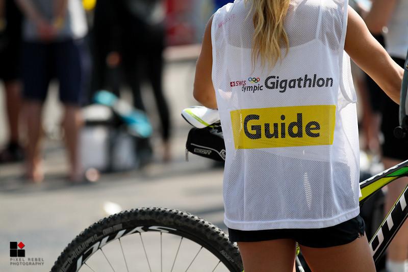 Gigathlon 2013, 6ème jour, zone de transitions (roller, natation, VTT) de Neuchâtel