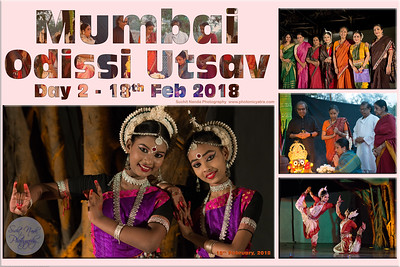 Mumbai Odissi Utsav  Day 2 - 18th Feb 2018 Suchit Nanda Photography www.photonicyatra.com