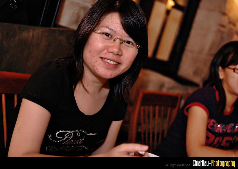 Another shot of Fang Ying enjoying her soup.