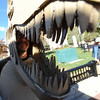 Case Parks made a T-Rex skull and was the dino dad of the day.<br /> Pearl Street Mall merchants provided treats to costumed munchkins on Sunday to celebrate the Downtown Boulder Munchkin Masquerade.<br /> Cliff Grassmick / November 1, 2009