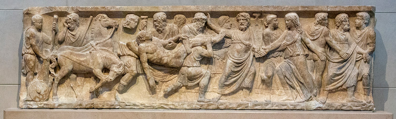 Sarcophagus relief with the Indian Triumph of Dionysus