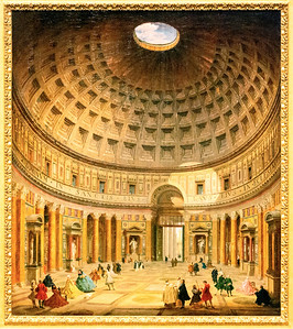 Interior of the Pantheon, Panini