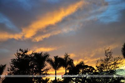 Sun setting as the Battle Royale begins, over Payne Park, Sarasota FL.