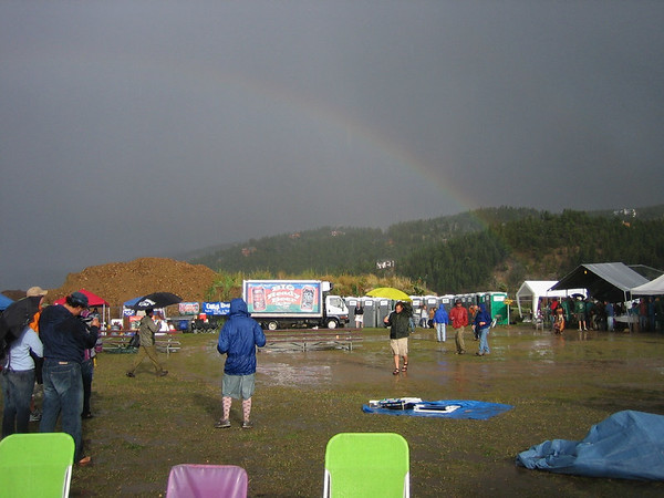 Day 2 - Nedfest - downpour and hale