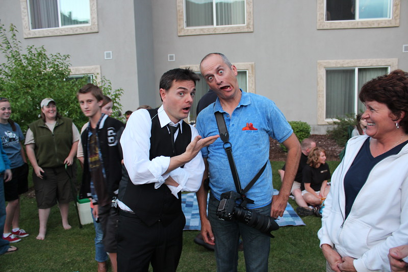 Steven Sharp Nelson meets Steven Ralph Sharp. Photo by Terry Edwards