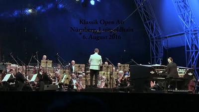 Nürnberger Symphoniker beim Klassik Open Air am 6.8.2016 im Luitpoldhain, Danse Macabre, eine sinfonische Dichtung (Camille Saint-Saëns), Dirigent: Alexander Shelley, Teil 2