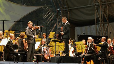 "Daniel Hope, Violine, und Alexander Shelley beim Klassik Open Air 2017, Nürnberger Symphoniker, ""Last Night"""