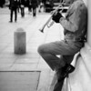 Trumpeter-under-the-Washington-Square-Arch-Black-and-White-Flash