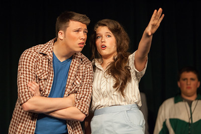 Bethel High School's 2013 musical, Footloose, was a hit for the audience in Bethel's newly renovated auditorium. The play featured Evan Stagge as Ren McCormack, and Jenna Barney as Ariel Moore.