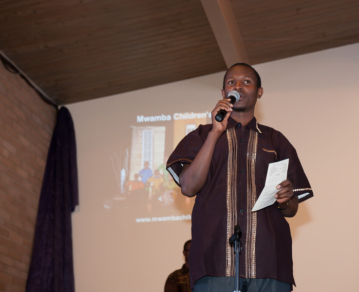 David, one of the leaders of the Mwamba Children's Choir.