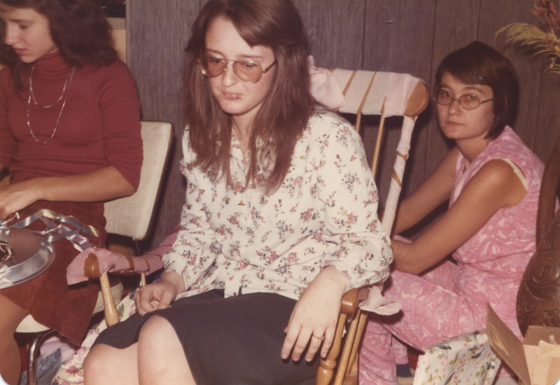 Bridal shower given by Ruth MacInnes and Carey MacInnes - Oct 1975<br /> (Left to Right: Carol Bellamy, Me, Aunt Carey)