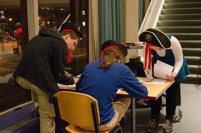 Helper pirates tallying scores