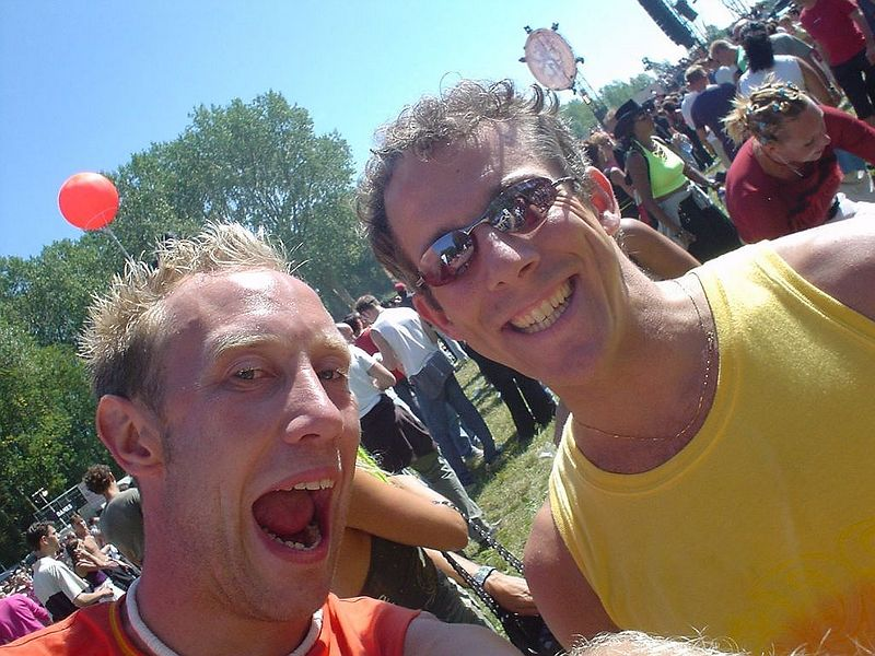 Andrew and I at the main stage