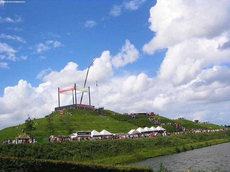 Mysteryland pyramid near the Q-dance stage