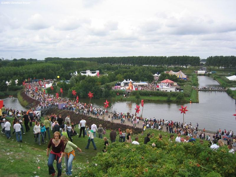 View from Q-dance pyramid