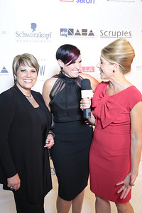 (L-R) Scruples' Tracy and Mia Ligouri with Milady's Julie Shepperly