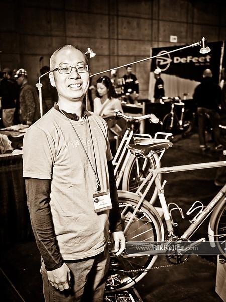NAHBS Day #1<br /> Renold Yip of YiPsan Bicycles