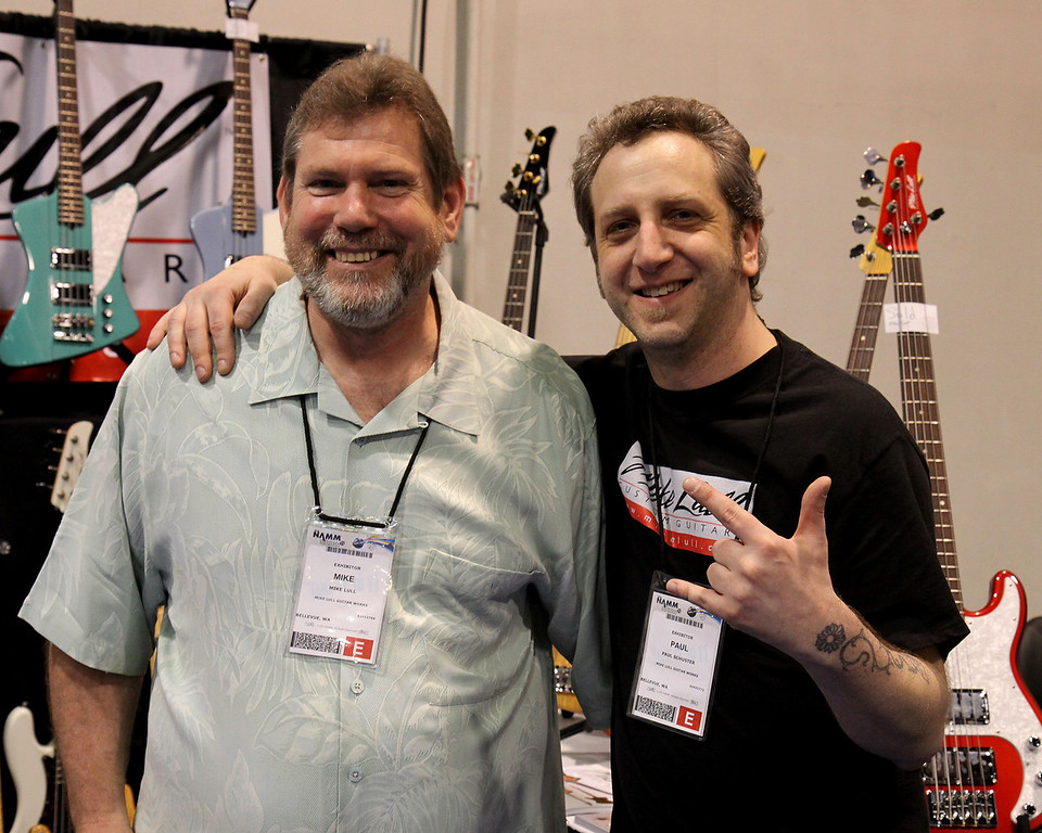 Mike Lull (bass and guitar builder) and Paul