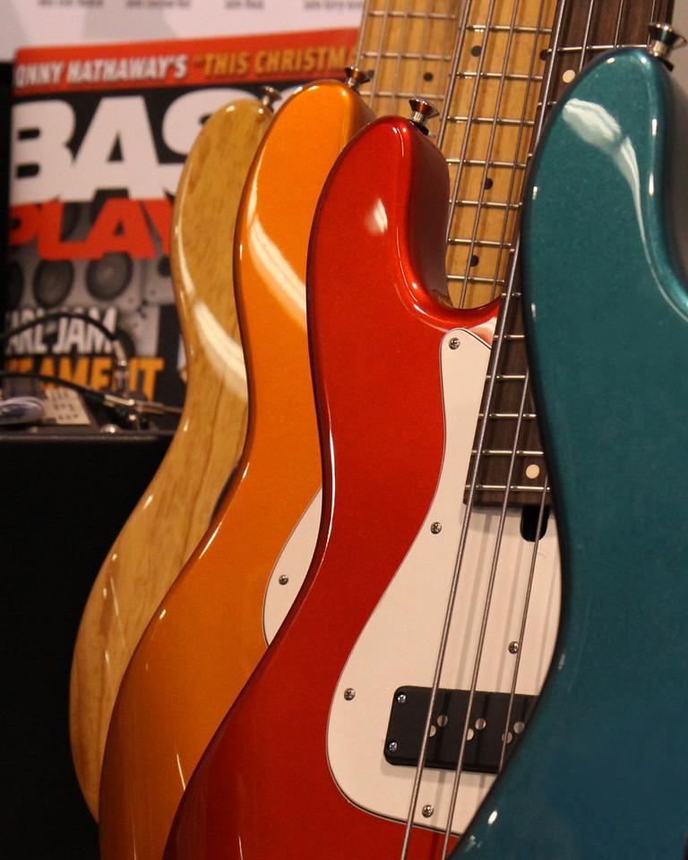 Mike Lull basses.