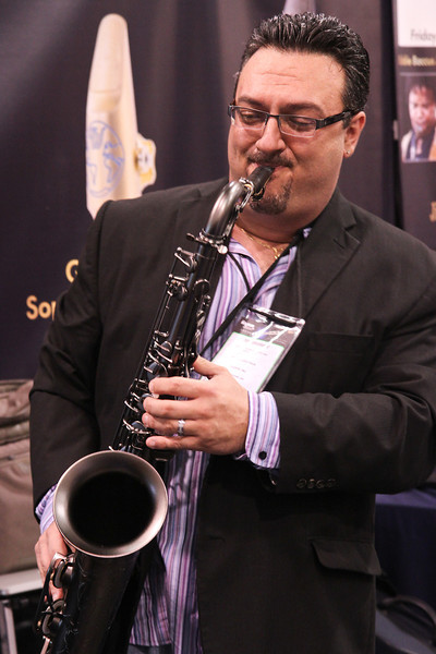 Mike MacArthur playing a Theo Wanne sax.