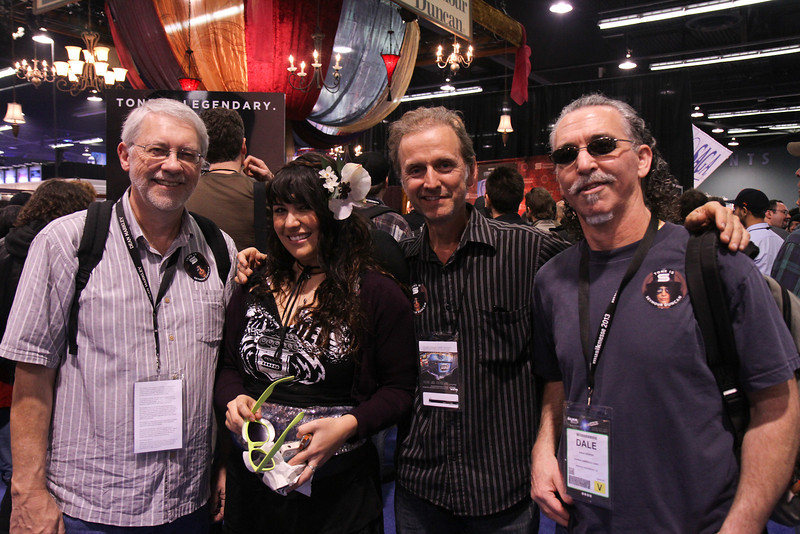 The guys at the Seymour Duncan booth.  No, that's not Seymour.