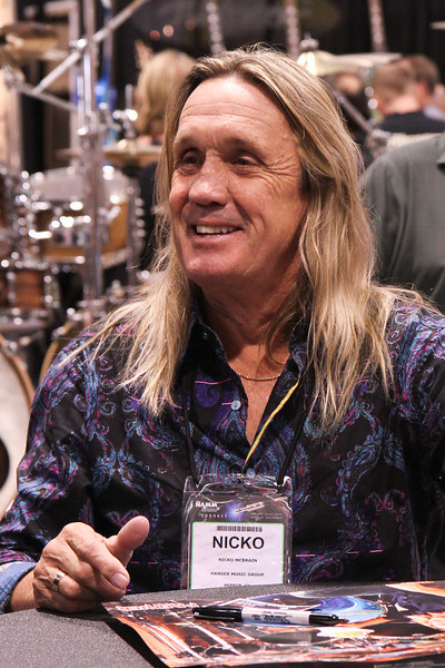 Nicko McBrain, drummer for Iron Maiden