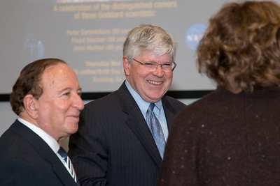 Floyd Stecker and Mike Salamon -- NASA/GSFC Career Celebration for John Mather (40 years), Floyd Stecker (50 years), and Peter Serlemitsos (55 years), Greenbelt, Nov 17, 2016.