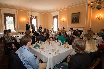 Milton Eisenhower Room, at the Hopkins Club -- 2016 Dr. John Mather Nobel Scholars Program Award  luncheon, held at the Hopkins Club, Johns Hopkins University, Baltimore, MD, July 26, 2016.