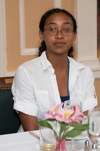 Quiana Hunt (2015 Scholar) -- 2016 Dr. John Mather Nobel Scholars Program Award  luncheon, held at the Hopkins Club, Johns Hopkins University, Baltimore, MD, July 26, 2016.