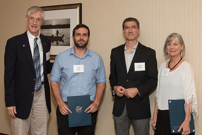 "Awardee Daniel Brack with John Mather, Matthew Collinge (Maryland Space Grant Consortium), and Janie Nall (GSFC) -- An award luncheon, ""Dr. John Mather Nobel Scholars Program Award"", as part of the National Council of Space Grant Directors and the Maryland Space Grant Consortium, Greenbelt, MD July 28, 2017"