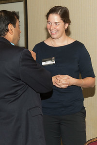 "Mariel Friberg with Anoop Mehta (SSAI) -- An award luncheon, ""Dr. John Mather Nobel Scholars Program Award"", as part of the National Council of Space Grant Directors and the Maryland Space Grant Consortium, Greenbelt, MD July 28, 2017"