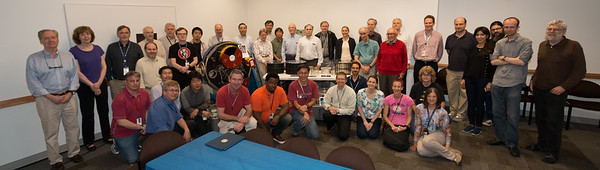 all the party attendees --  Back row: Kevin Black, Joan Centrella, Mike Corcoran, Scott Barthelmy, Bob Silverberg, Robin Corbet, Takayuki Hayashi, Steve Drake, Will Zhang, Jean Swank, Takashi Okajima, Yang Soong, Peter Serlemitsos, Rob Petre, Rich Kelley, Megan Eckart, Keith Arnaud, Frank Marshall, Tom Cline, Mark Clampin, Simon Bandler, Simin Mahmoodifar, Maurice Leutenegger, Stephen Walker, Dale Fixsen. Front row: Steve Sturner, Keith Jahoda, Hideyuki Mori, Kenji Hamaguchi, John Kearney, Marton Sharpe, Koji Mukai, Jeremy Schnittman, Zaven Arzoumanian, Lynne Valencic, Joe Hill-Kittle, Katja Pottschmidt, Caroline Kilbourne.  Retirement party for Peter Serlemitsos from NASA/GSFC after 55 years. -- April 27, 2017 -- NASA/Goddard Space Flight Center, Greenbelt, MD