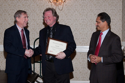 Randy Barth, winner of ADNET Excellence Award -- ADNET Systems 2011 Holiday Awards Party
