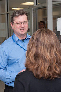 Glenn Wahlgren and Liz Hays -- March 2011 new staff welcome coffee, Astrophysics Science Division, NASA/ Goddard Space Flight Center