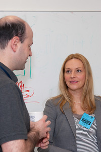Andy Ptak with colloquium speaker Alicia Soderberg -- March 2011 new staff welcome coffee, Astrophysics Science Division, NASA/ Goddard Space Flight Center
