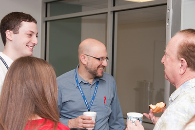 James Bubeck, Judy Racusin, Mike Arida, and Floyd Stecker -- March 2011 new staff welcome coffee, Astrophysics Science Division, NASA/ Goddard Space Flight Center