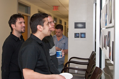 Davide Donato, Tod Strohmayer, Fotis Gavriil, (Dave Rapchun in background)  AstroMatch2011 contest -- March 2011 new staff welcome coffee, Astrophysics Science Division, NASA/ Goddard Space Flight Center
