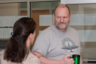 Dimitra Koutroumpa and Steve Snowden -- March 2011 new staff welcome coffee, Astrophysics Science Division, NASA/ Goddard Space Flight Center